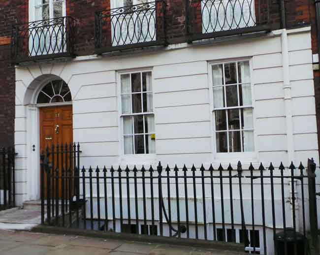 An exterior view of 17 Church Row, Hampstead.