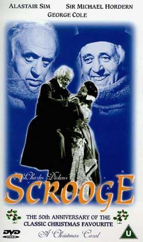 The cover of Alastair Sim Scrooge.