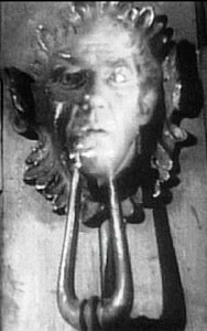 Marley's face on the doorkncoker in A Christmas Carol.