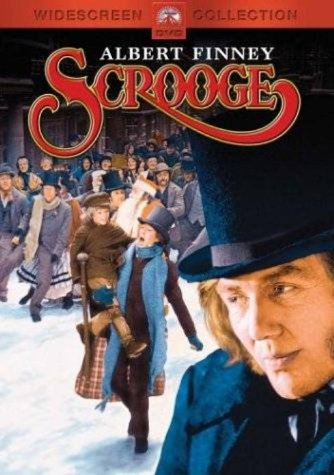 The Cover of Scrooge, with Albert Finney shown on cover.
