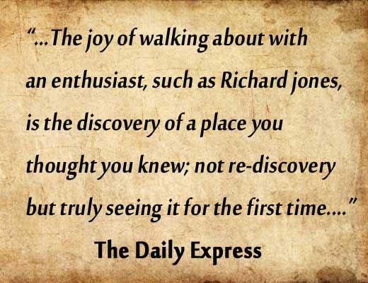 The Daily Express Review of Richard's walks.