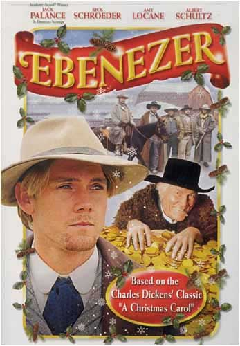 The front cover of Ebenezer the movie.