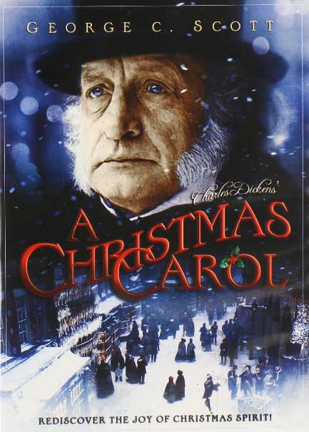 The cover of George C Scott's A Christmas Carol.