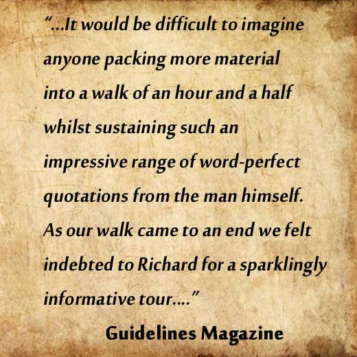 A review of Richard's Dickens tour from Guidelines Magazine.