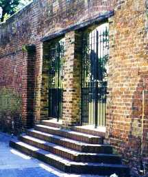 A surviving wall of the Marshalsea Prison seen on our Dickens London walk.