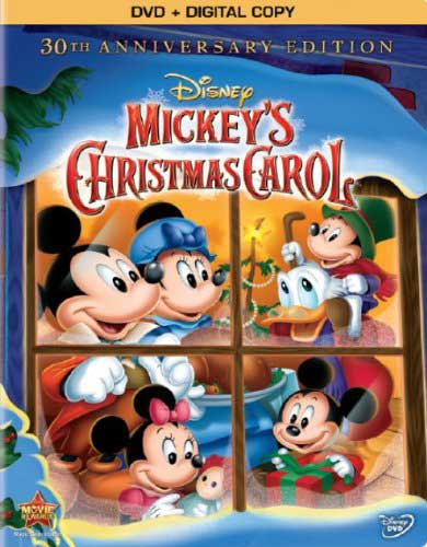 The cover of Mickey's Christmas Carol.