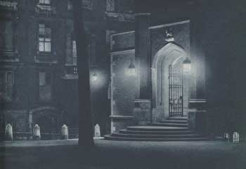 Middle Temple Hall seen by night.