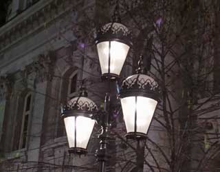Old gas lamps.