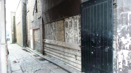 One of the old inn yards that features of the Dickens walk.