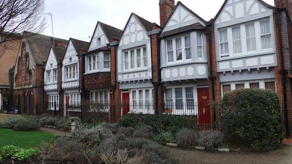 The houses in Redcross Garden.
