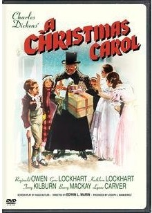 Reginald Owen Christmas Carol dvd cover.