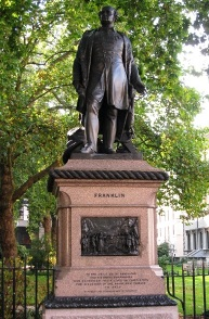 The statue of Sir John Franklin.