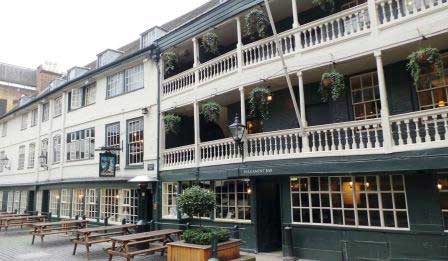 London's only surviving galleried coaching inn - The George.
