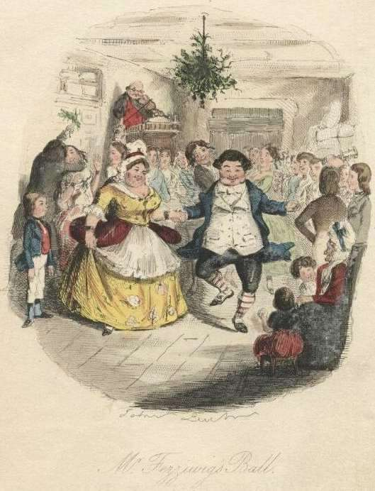 A party scene from A Christmas Carol
